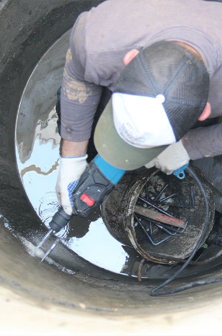 Как мы выполняем ремонт колодцев в Ясногородском районе
